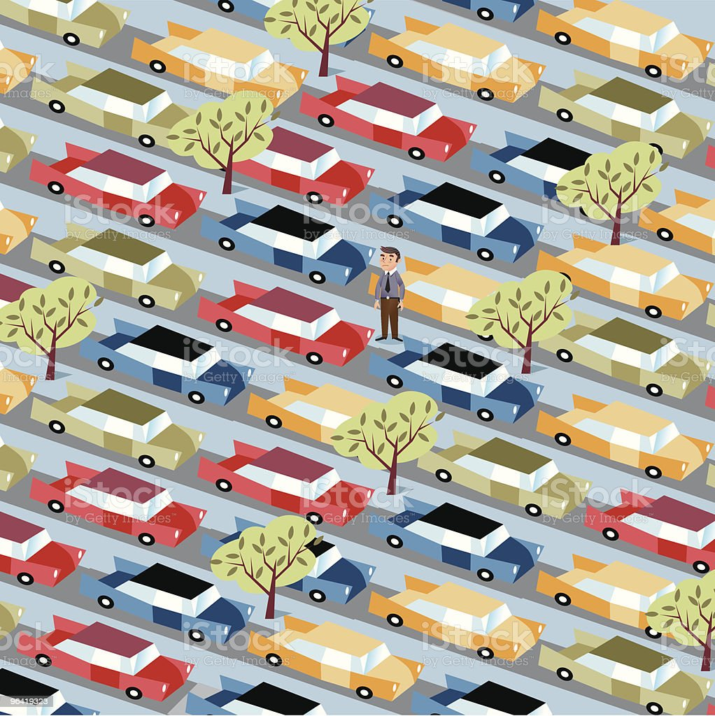 Busy Streets royalty-free stock vector art