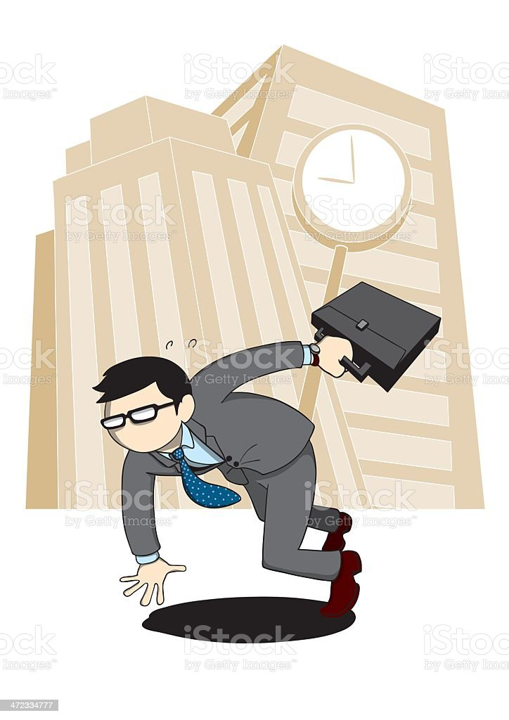 BusyBusinessMan royalty-free stock vector art