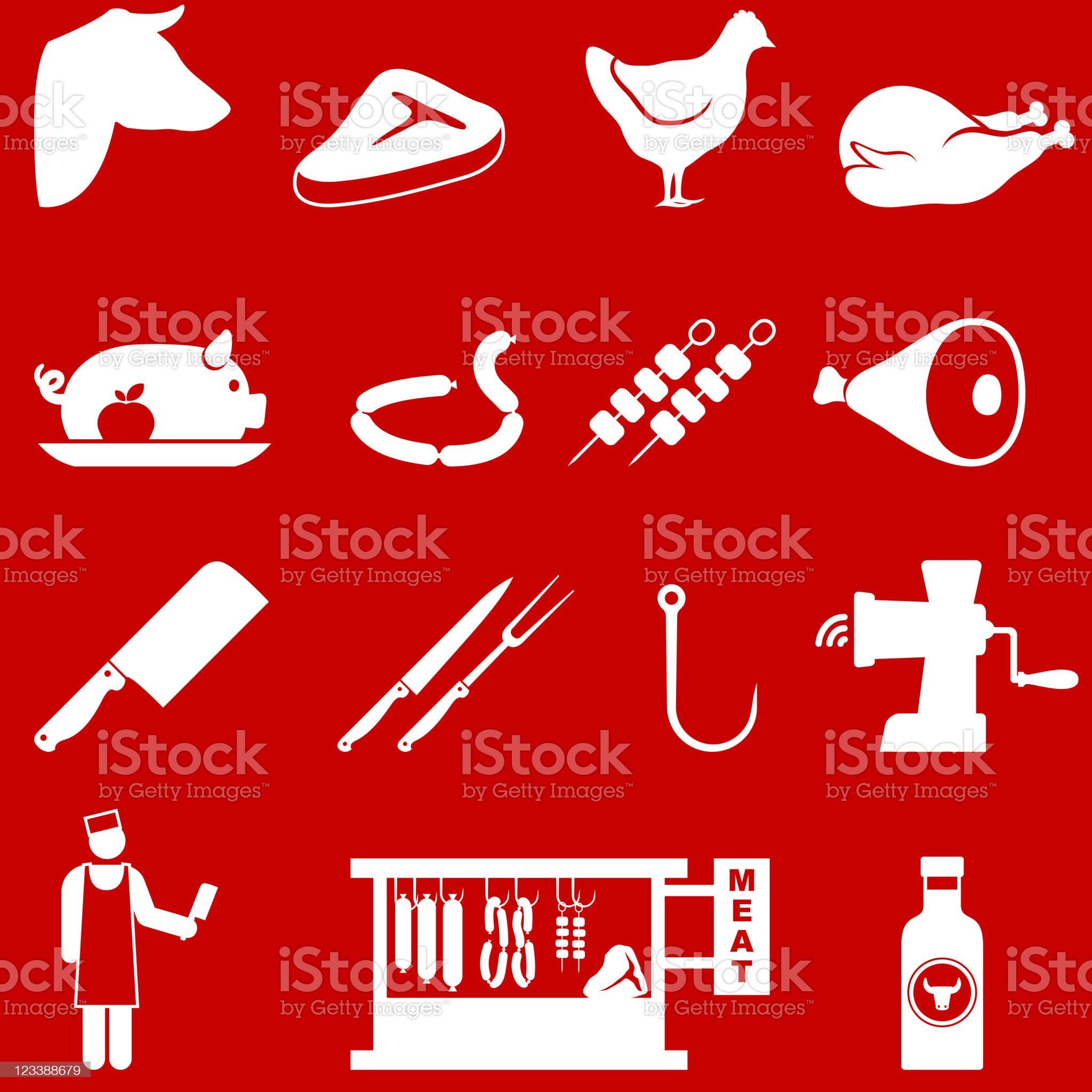 butcher and meat shop royalty-free stock vector art