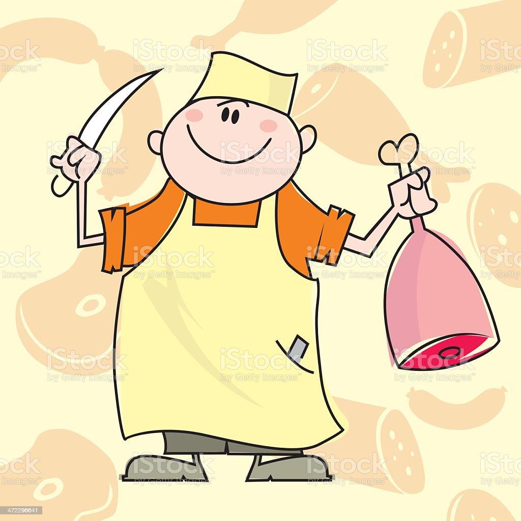 butcher cartoon vector vector art illustration
