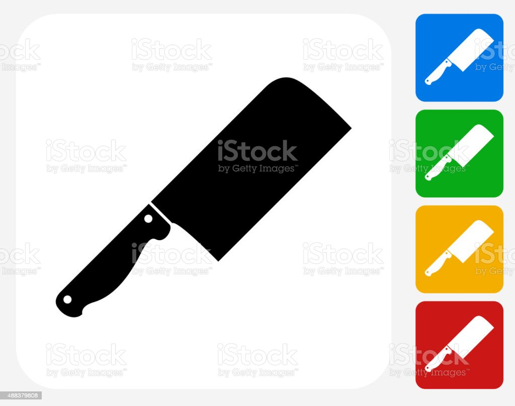 Butcher Knife Icon Flat Graphic Design vector art illustration