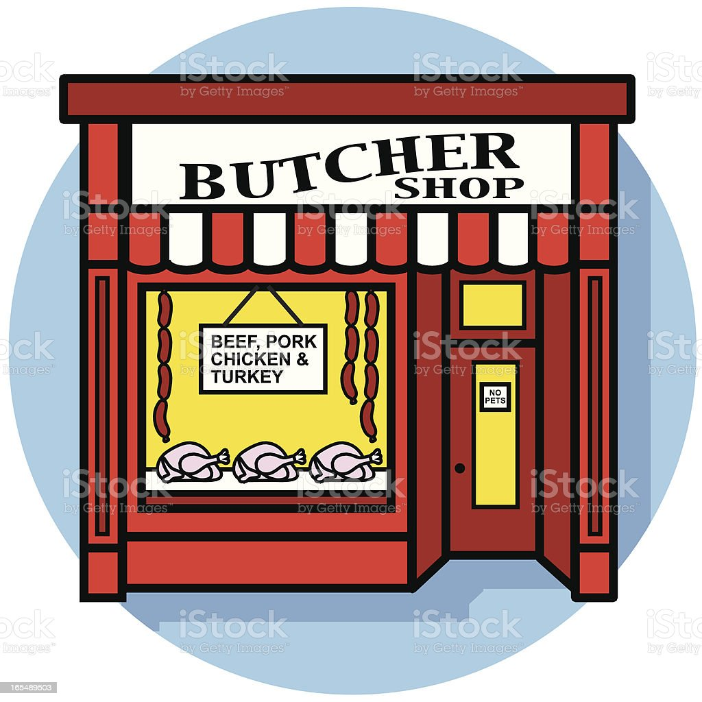 butcher shop icon royalty-free stock vector art