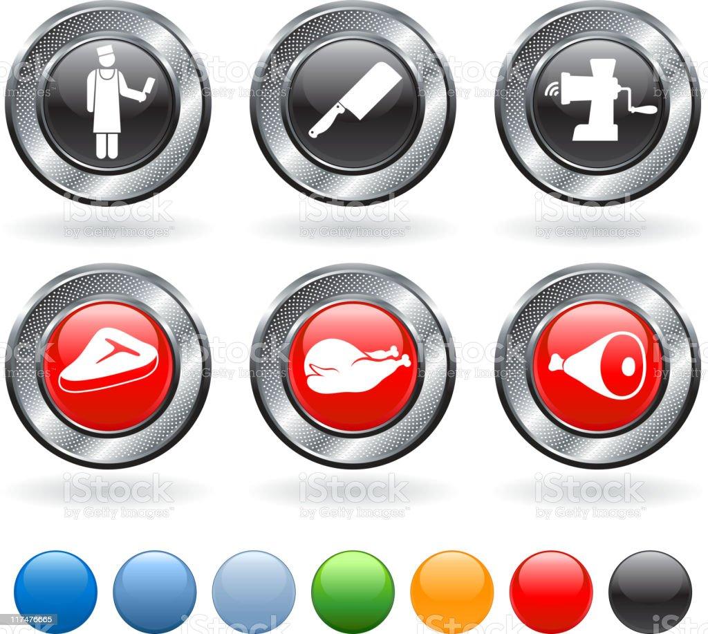 Butcher shop royalty free vector icon set royalty-free stock vector art