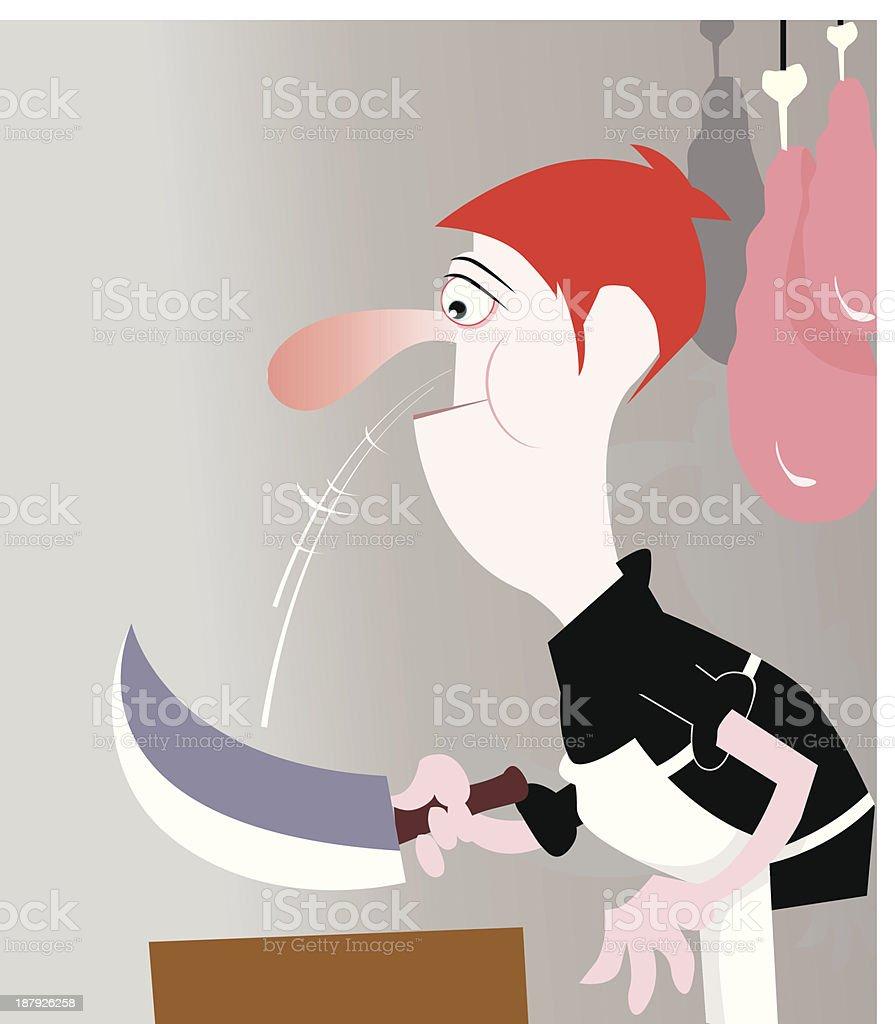 butcher royalty-free stock vector art