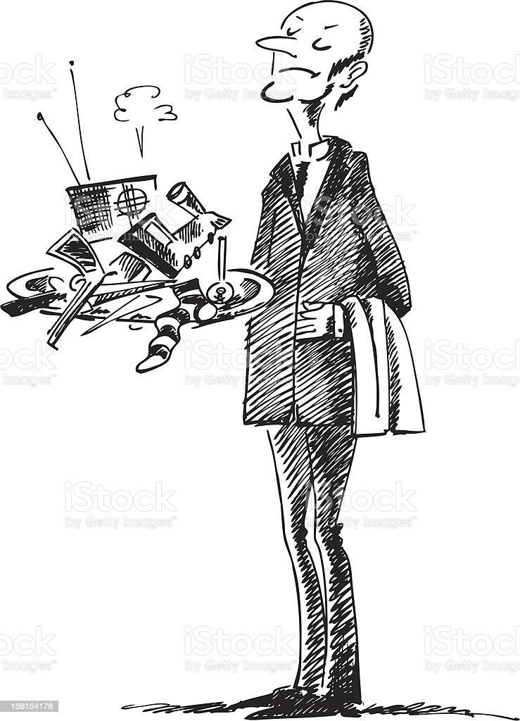 Butler-murderer royalty-free stock vector art