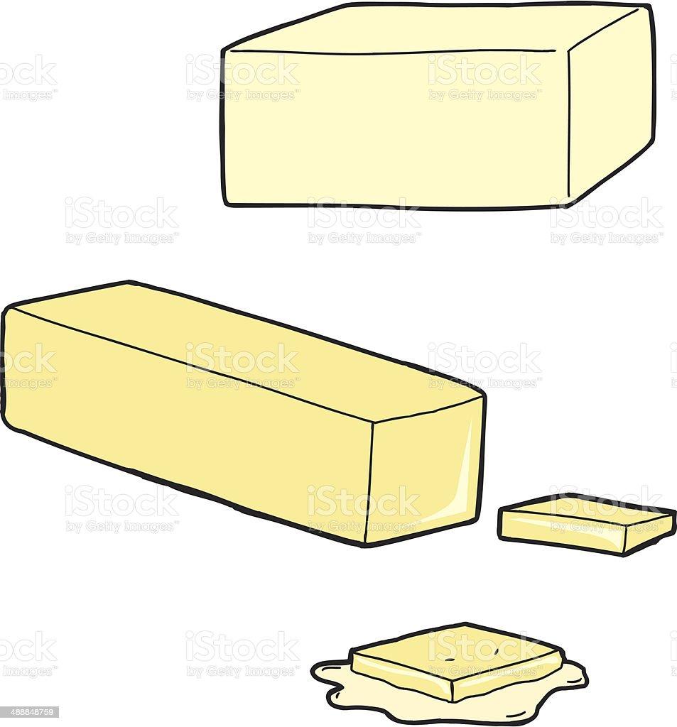Butter Cartoons vector art illustration