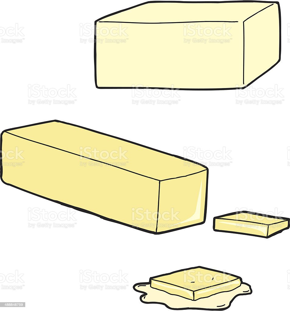 Butter Cartoons vector art illustration