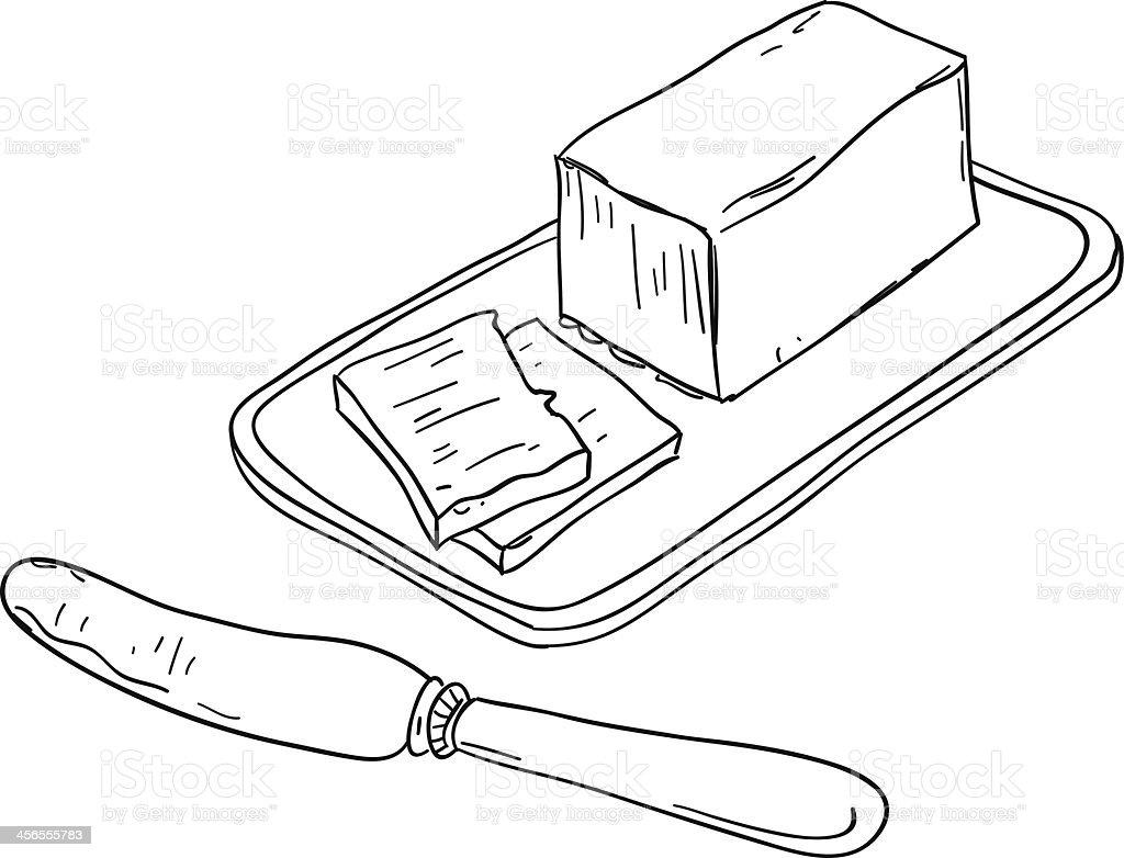Butter sketch illustration vector art illustration