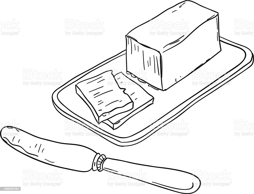 Butter sketch illustration vector art illustration
