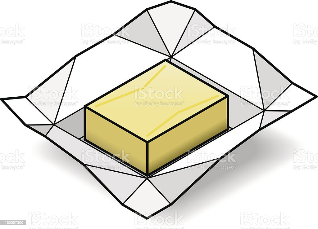 Butter royalty-free stock vector art