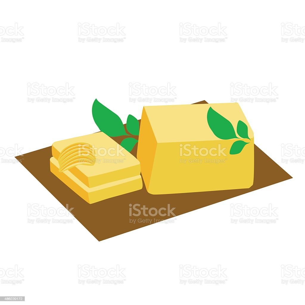 butter vector art illustration