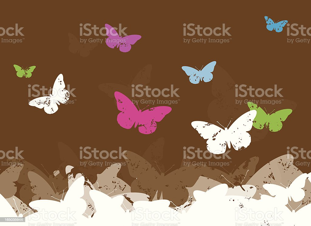 Butterflie Background royalty-free stock vector art