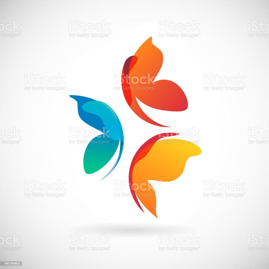 butterflies background design vector art illustration