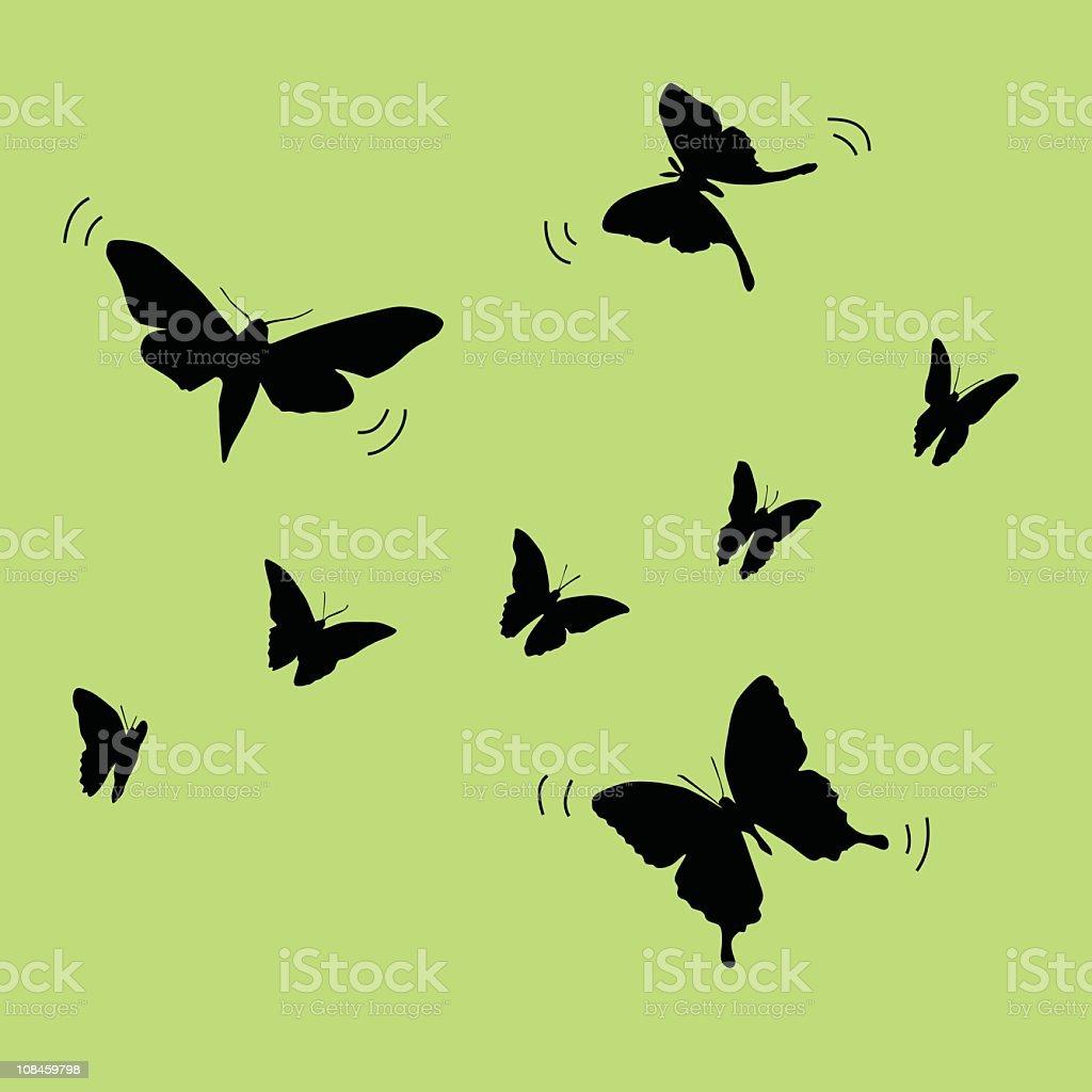 Butterflies everywhere royalty-free stock vector art