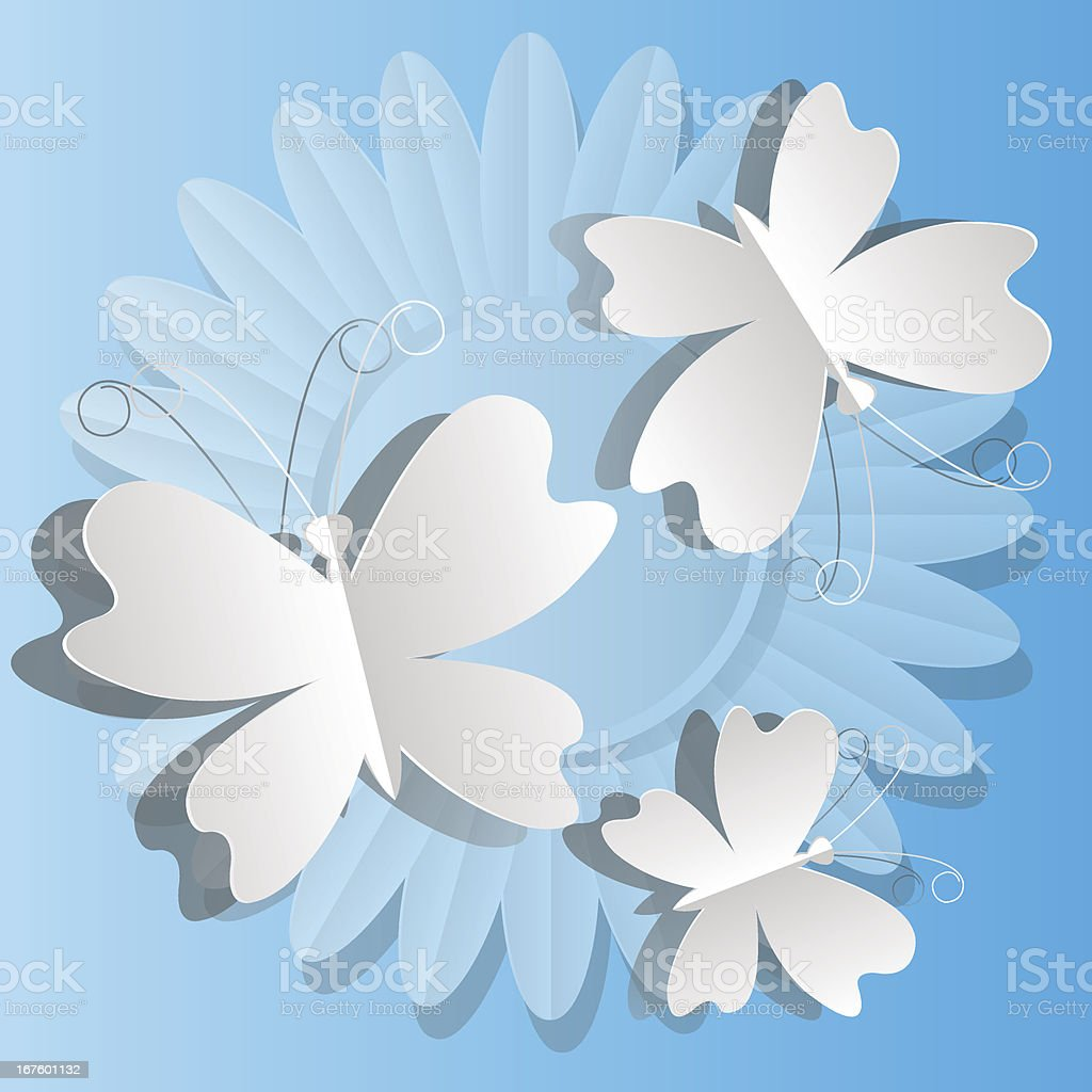 butterflies from paper royalty-free stock vector art