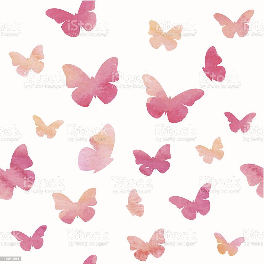 Butterflies pattern vector art illustration