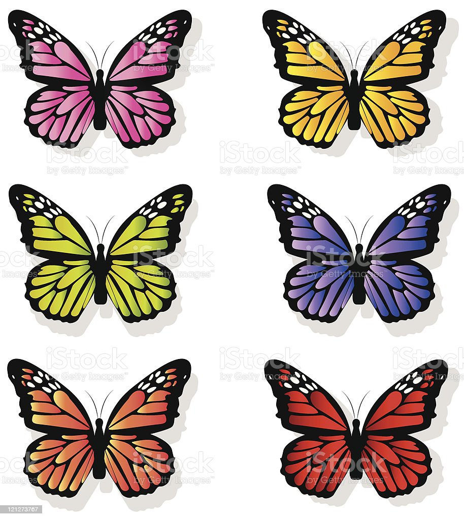 Butterflies royalty-free stock vector art