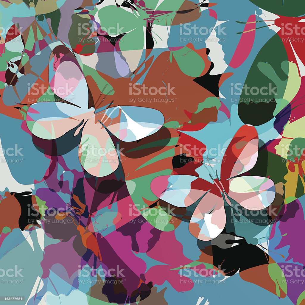Butterfly abstract design royalty-free stock vector art