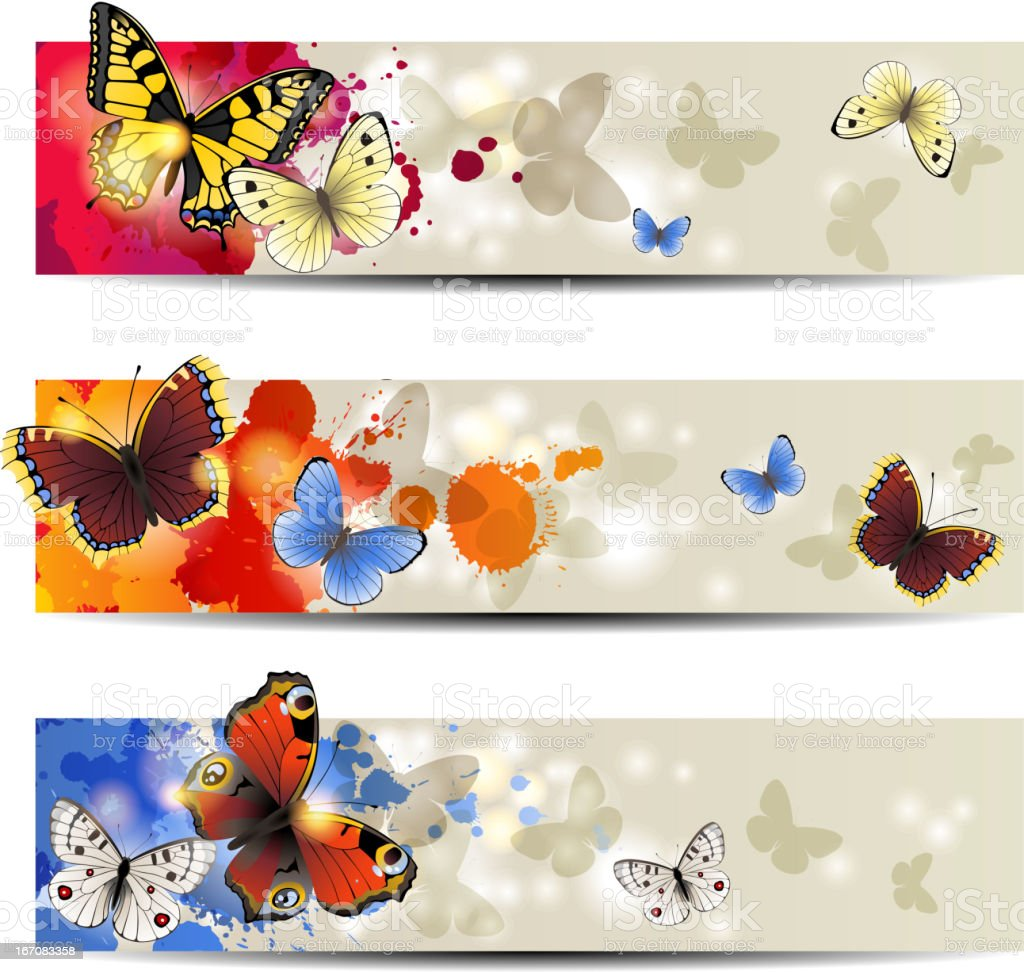 Butterfly banners royalty-free stock vector art