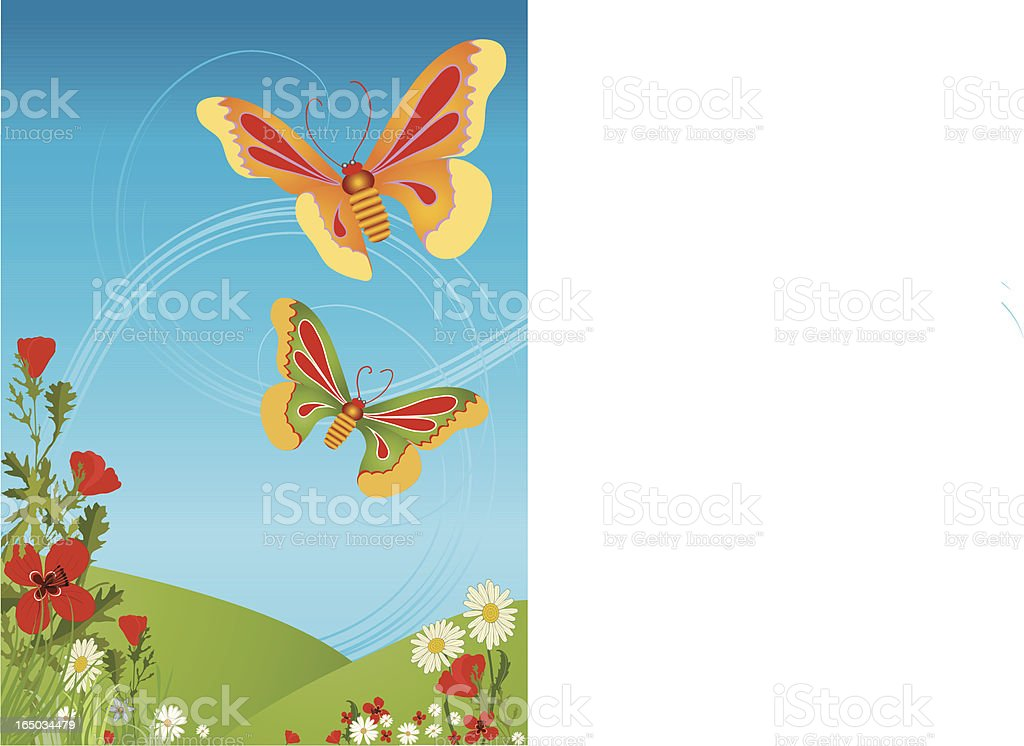 Butterfly dance royalty-free stock vector art
