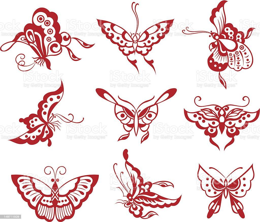 Farfalla di design illustrazione royalty-free
