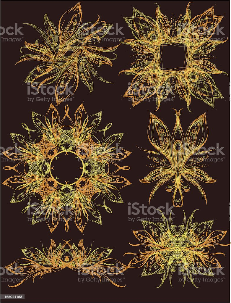 butterfly elements royalty-free stock vector art