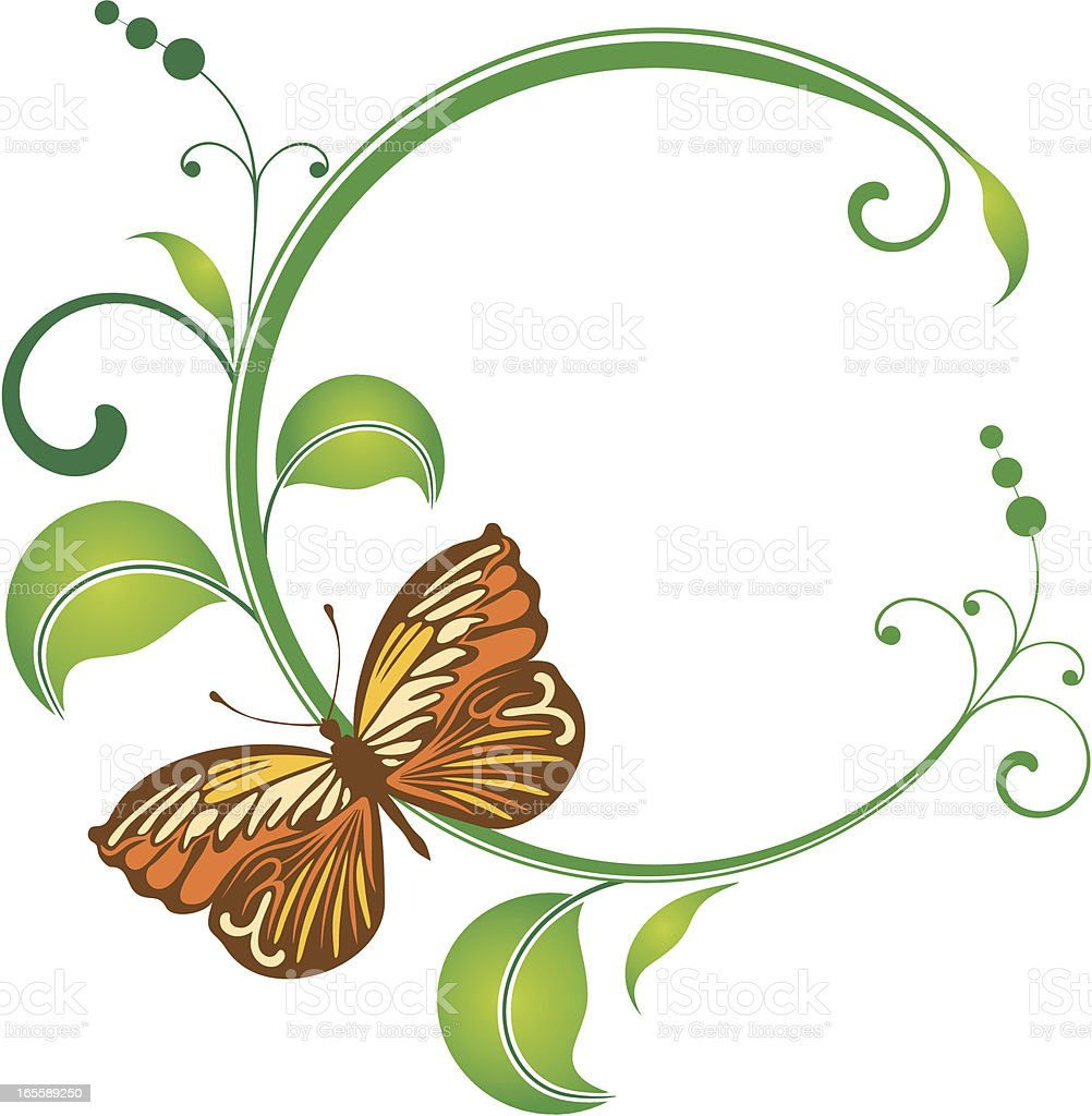butterfly frame royalty free stock vector art
