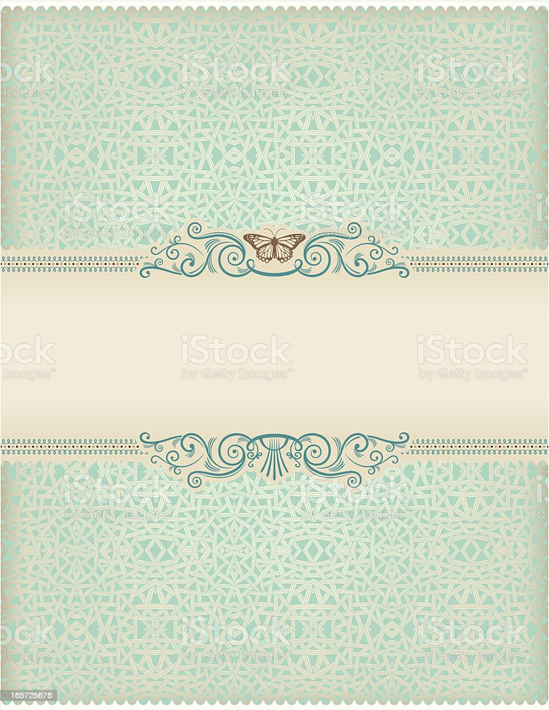 Butterfly Frame vector art illustration
