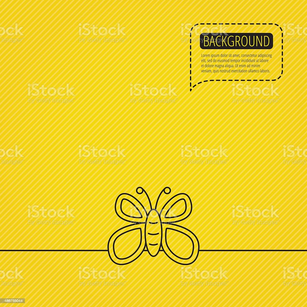 Butterfly icon. Dreaming sign. vector art illustration