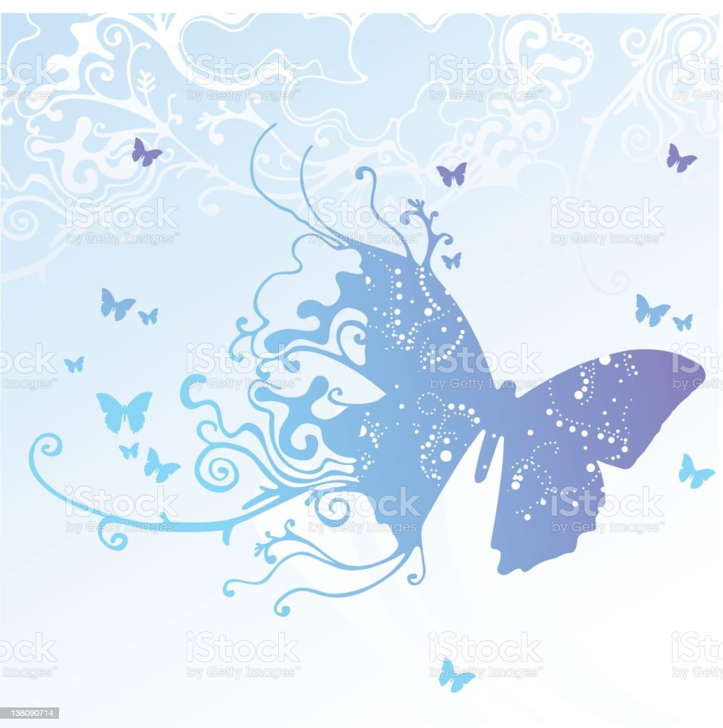 Butterfly - illustration royalty-free stock photo