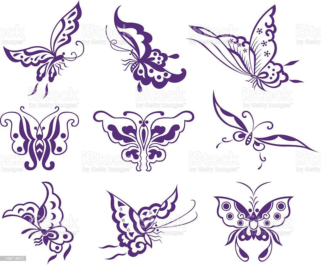 Illustrazione di farfalle illustrazione royalty-free