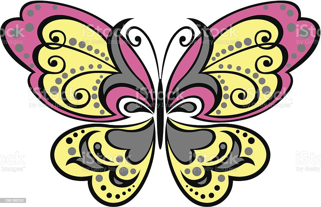 butterfly illustration royalty-free stock vector art