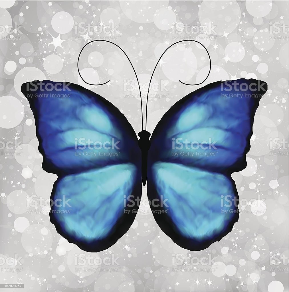 Butterfly In Blue Tones. Vector royalty-free stock vector art