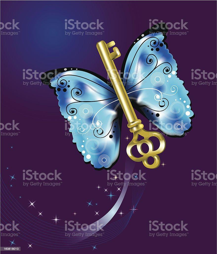 Butterfly key royalty-free stock vector art