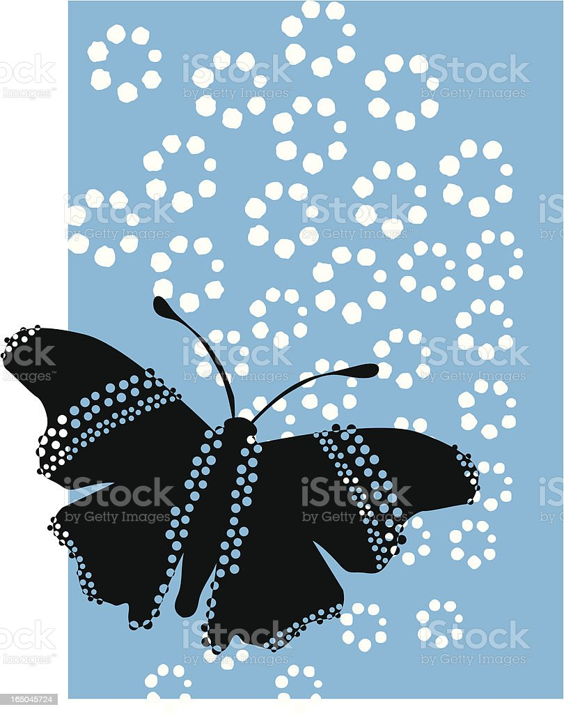 Butterfly polka royalty-free stock vector art