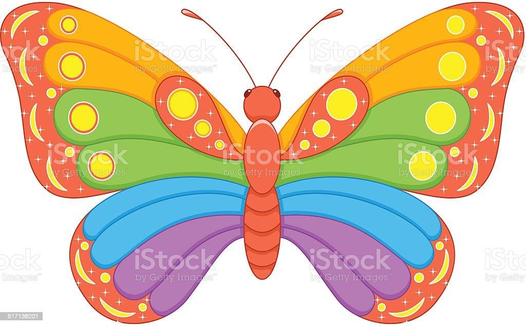 schmetterling rainbow vektor illustration 517136201 istock. Black Bedroom Furniture Sets. Home Design Ideas