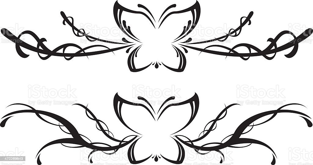 Butterfly scrolls royalty-free stock vector art
