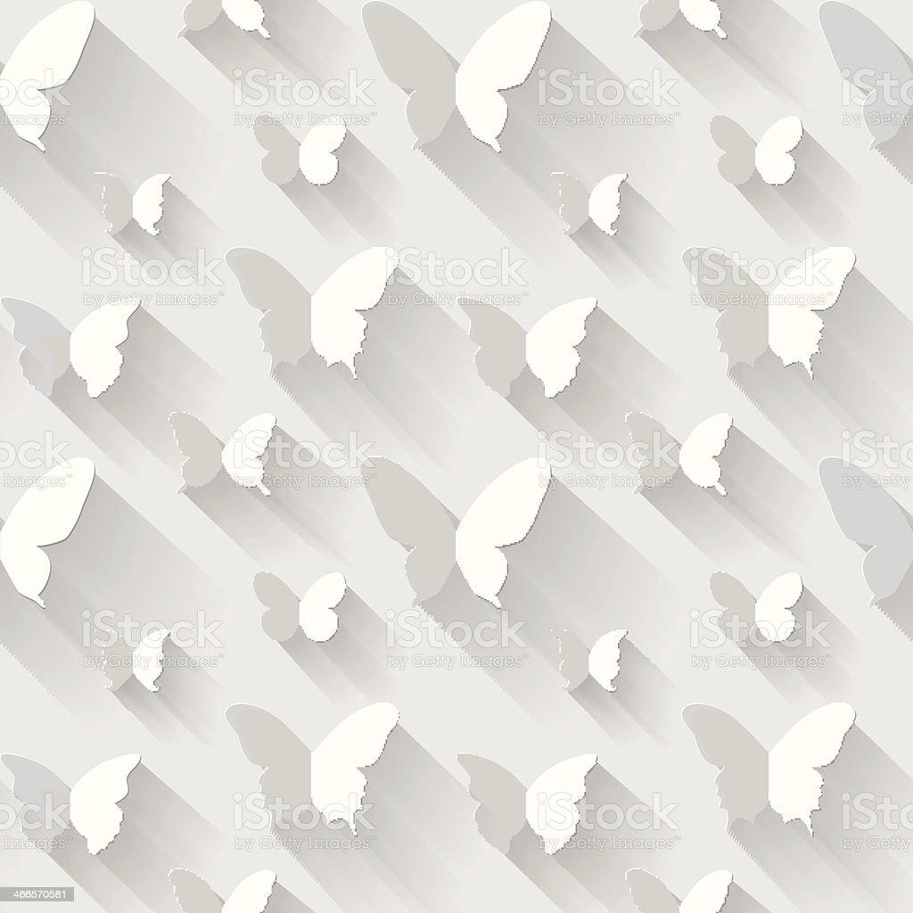 Butterfly seamless vector background vector art illustration