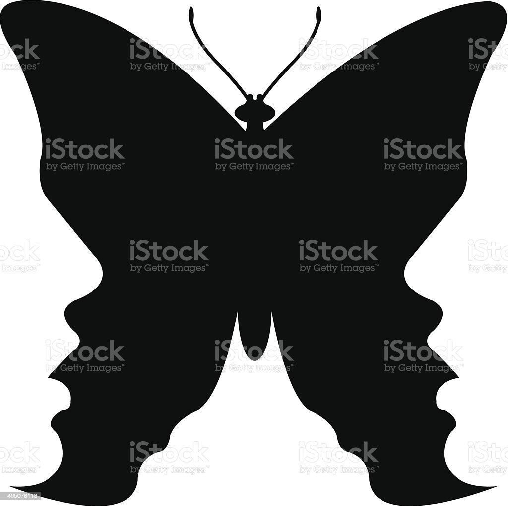 butterfly talking heads vector art illustration