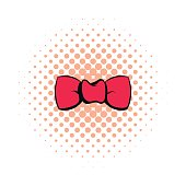 Butterfly tie comics icon