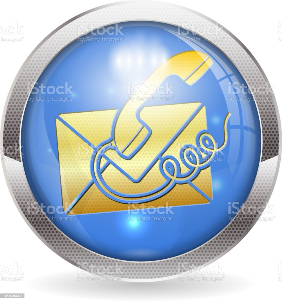 Button Contact Us royalty-free stock vector art