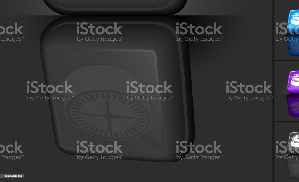 3D button design featuring a gambling roulette in different colors royalty-free stock vector art