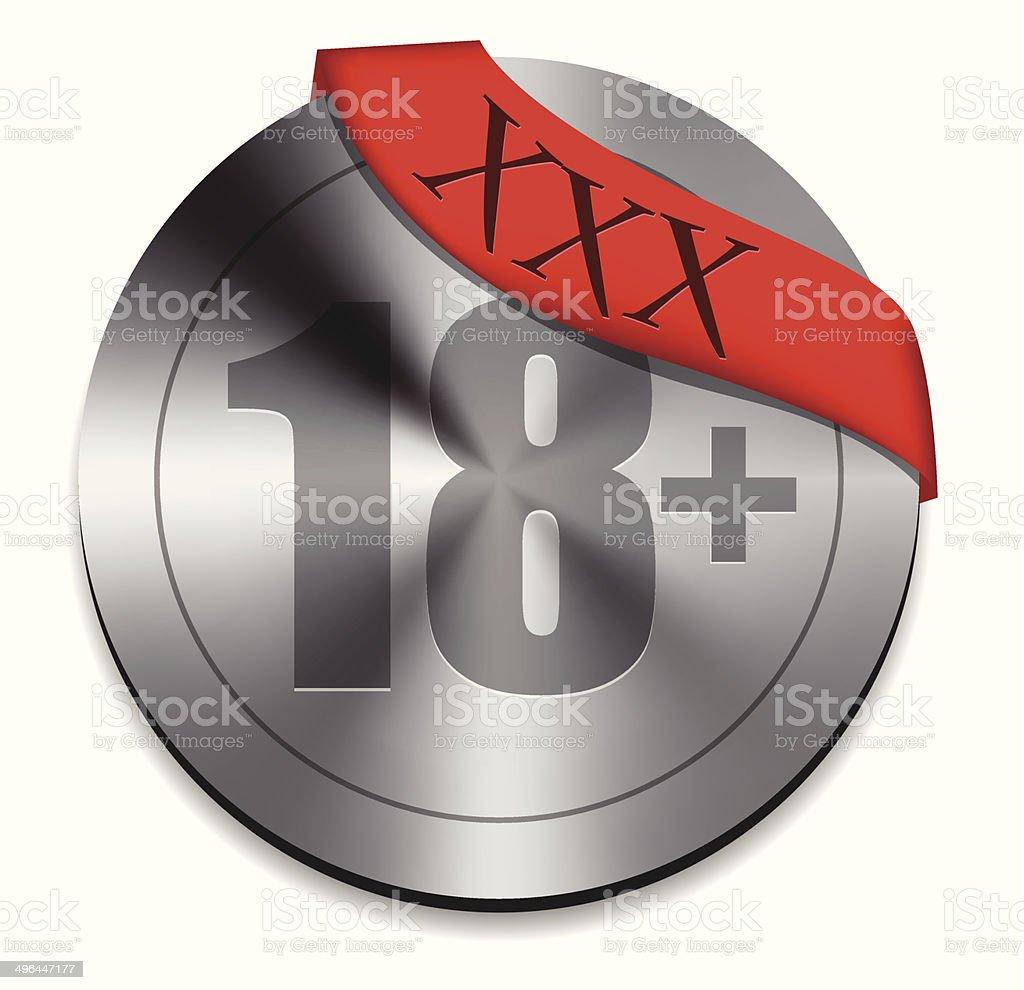 XXX bouton icône stock vecteur libres de droits libre de droits