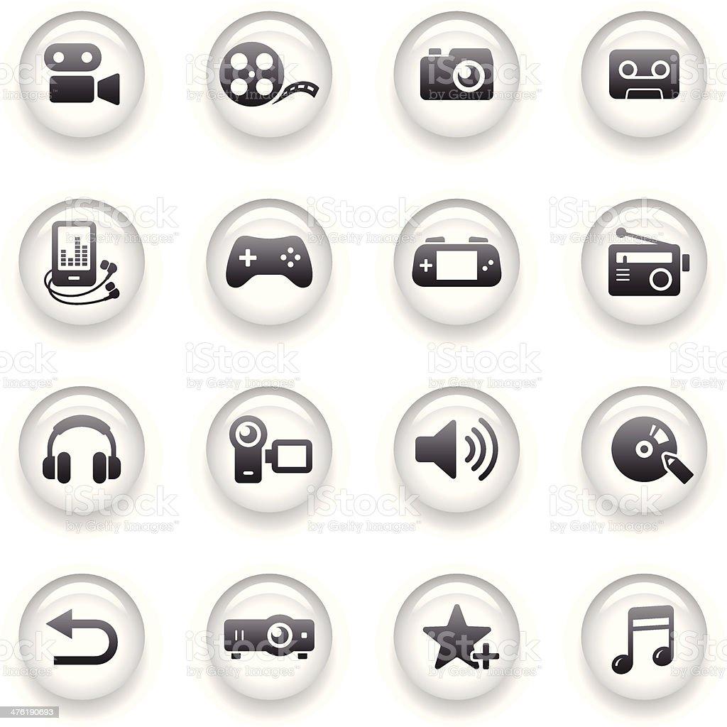 Button Icons Set | Multimedia vector art illustration