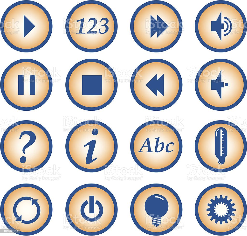 button [icons] royalty-free stock vector art