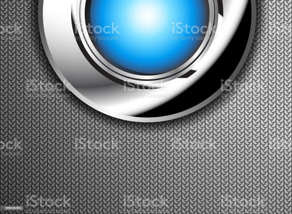 Button on the steel plate royalty-free stock vector art