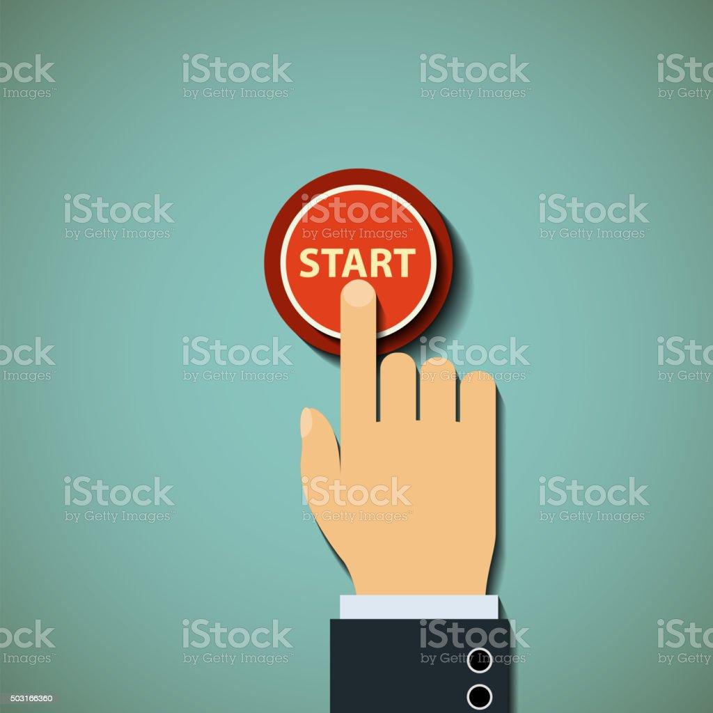 button. Stock illustration. vector art illustration