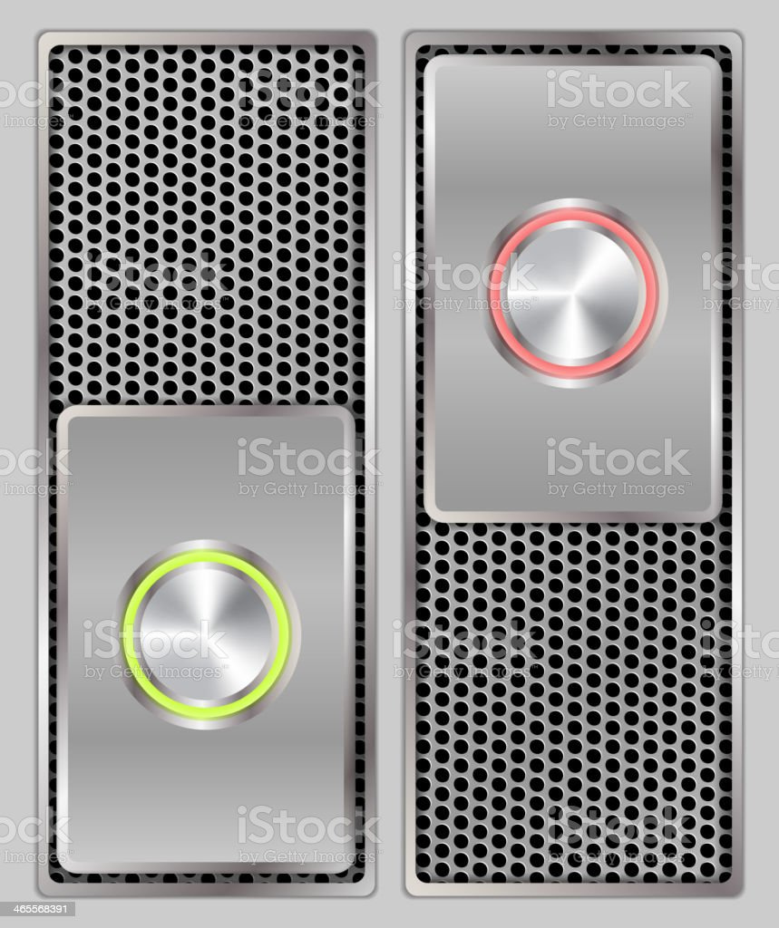 Button switch royalty-free stock vector art