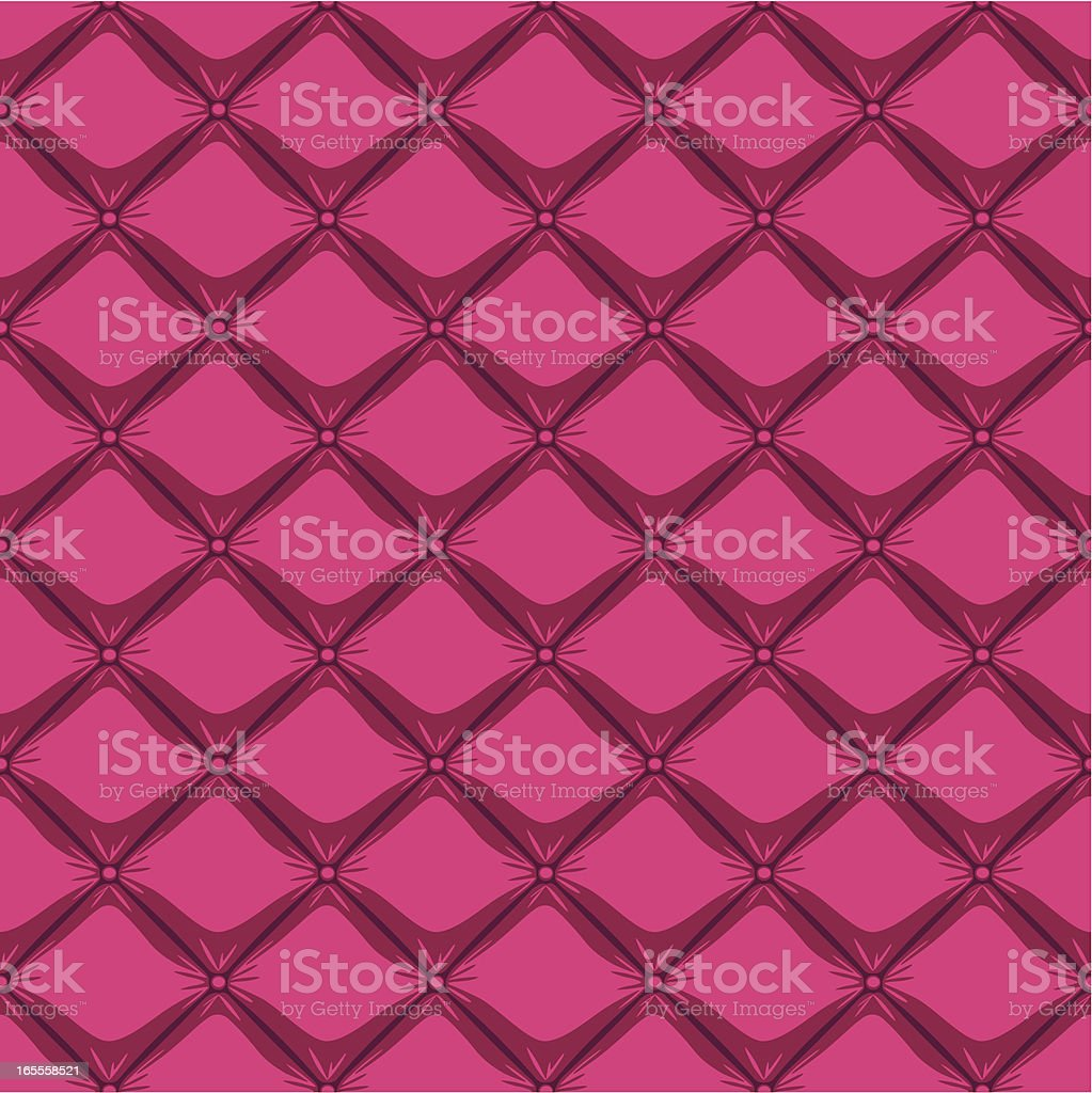 Buttoned Pattern Pink royalty-free stock vector art