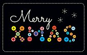 buttons and embroidery Merry Xmas